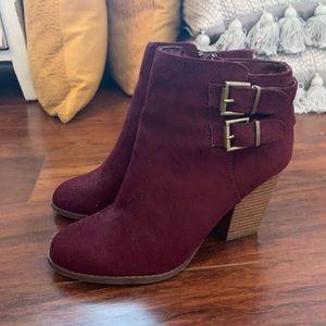 Charlotte russe maroon booties